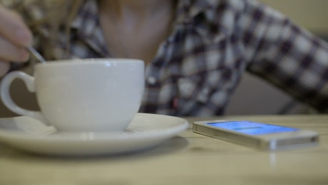 Texting at breakfast