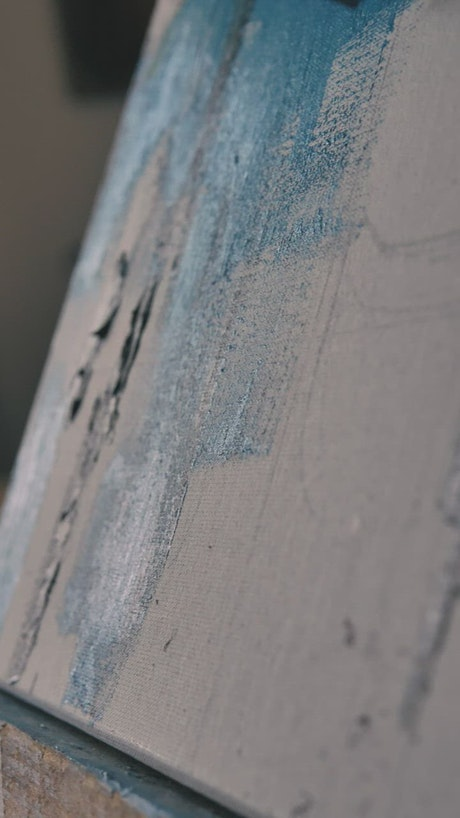 Texture of a brush painting blue color