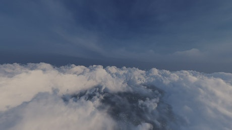 Texture of a short flight over the clouds