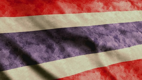 Thailand flag from the Asian continent