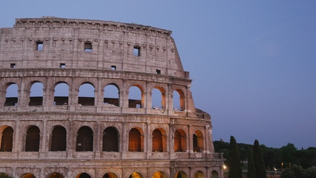 The Colosseum in the evening