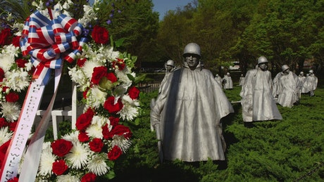 The Korean War Memorial in DC