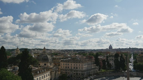 The landscape of the city of Rome