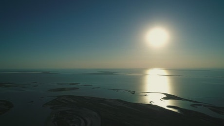 The sun at dawn, landscape
