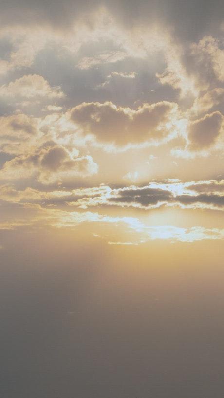The sun hiding on the horizon