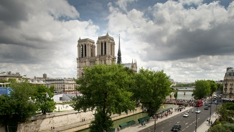 The surroundings of Notre Dame Cathedral