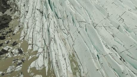 The Svinafellsjokull glacier field