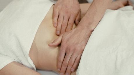 Therapeutic abdominal massage