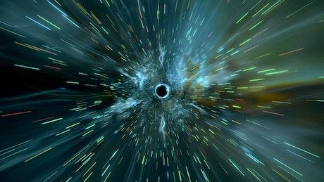 Through a wormhole
