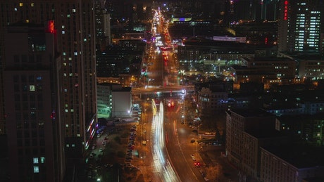 Tianjin road with fast traffic