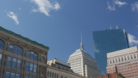 Time lapse from downtown Boston buildings