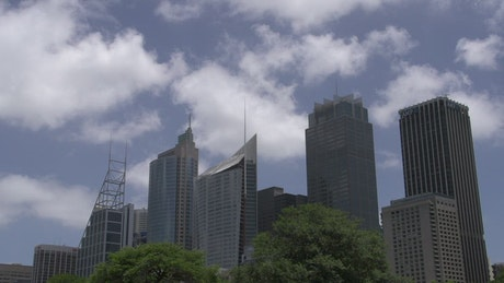 Time-lapse from skyscraper downtown Sydney