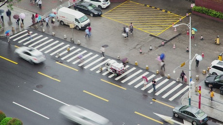 Time lapse of a city crossroad in Guangzhou