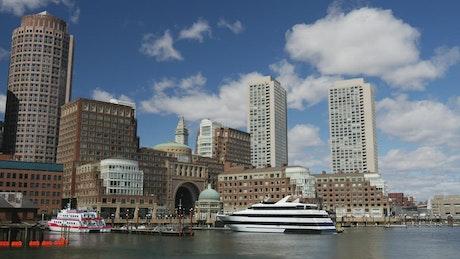 Time lapse of Boston skyline