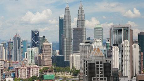 Time lapse of Kuala Lumpur skyline