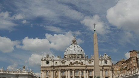 Time lapse of St. Peter's basilica in the Vatican