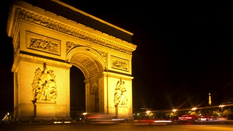Time lapse of the arc of triumph