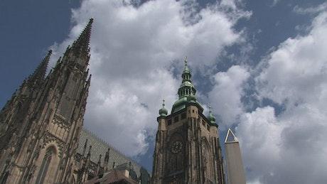 Time lapse of the Prague Castle