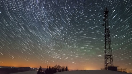 Time-lapse of the stars in the sky