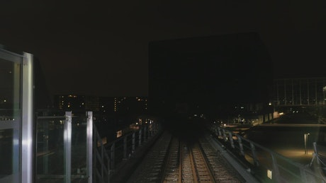 Timelapse of a subway train