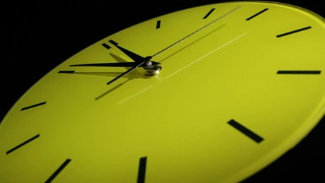 Timelapse of a yellow clock