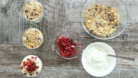 Timelapse of chef preparing healthy diet foods