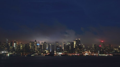 Timelapse of New York at night