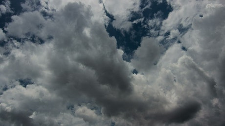 Timelapse of storm cloud formations