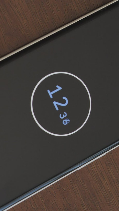 Timer of a Smartphone in a close-up shot
