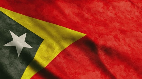 Timor Leste waving flag from Africa