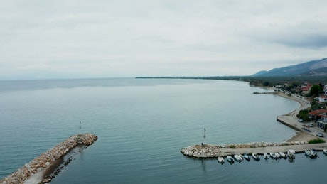 Tiny harbor at the edge of an island