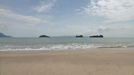 Tiny islands off the coast
