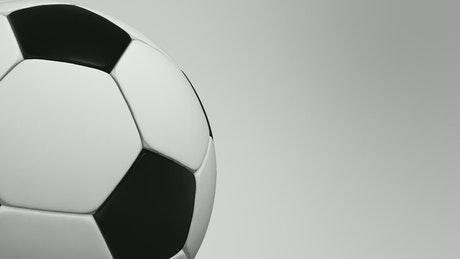 Title-video about a classic football ball