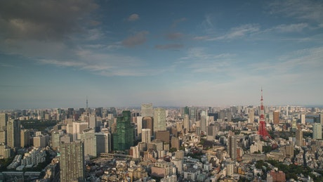Tokyo aerial time-lapse