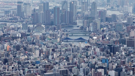 Tokyo city landscape time lapse