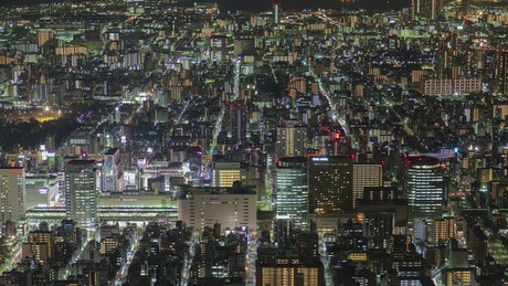 Tokyo city lights landscape