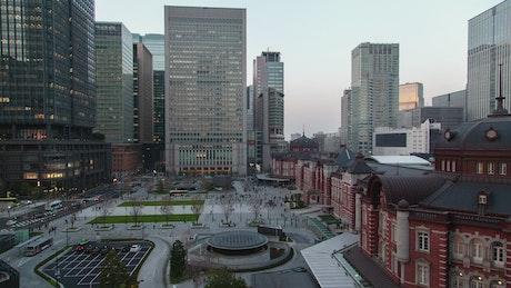 Tokyo railway station time lapse