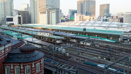 Tokyo train station traffic