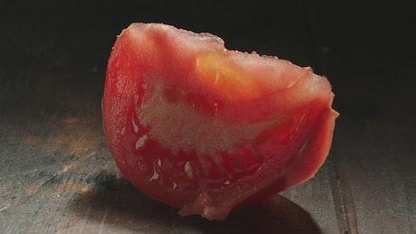 Tomato with sea salt