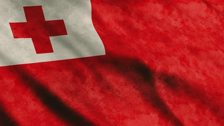 Tonga 3D flag waving
