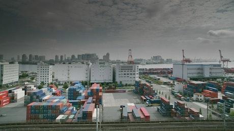 Top view of Tokyo Cargo Port