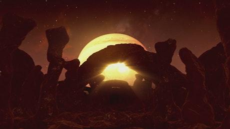 Touring a dark alien planet