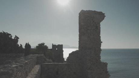 Touring archeological tourist area