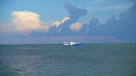 Tourist boat off the coast