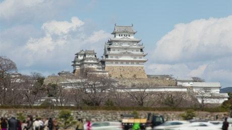 Tourist samurai castle attraction in Japan