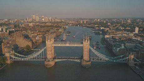 Tower bridge in a river in London