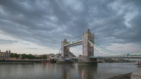Tower Bridge in London during sunset