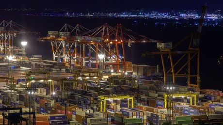 Trading port terminal in Tokyo