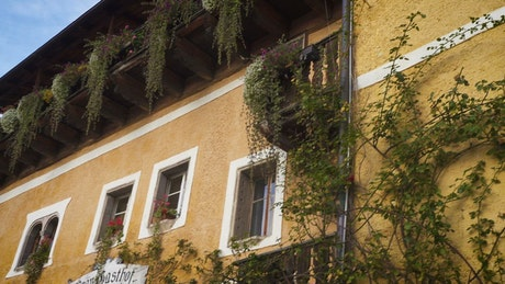 traditional autrian houses façades
