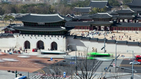 Traditional palace in Korea